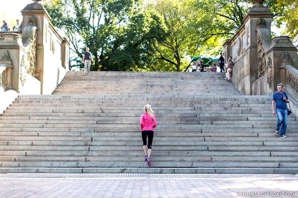 Asics New York Central Park Fitness On Toast Faya Blog Running Training Stretching Women Routine-2