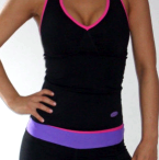 'LEA' TOP in Black with Pink trim.http://trulyfit.co.uk/products/tops/lea-top/' aria-describedby='gallery-4-892