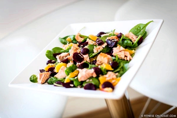 salmon salad, smoked, calories, recipe, nicoise, baked, wild alaskan, fresh fish, fish, dressing, orange, beetroot, healthy, diet