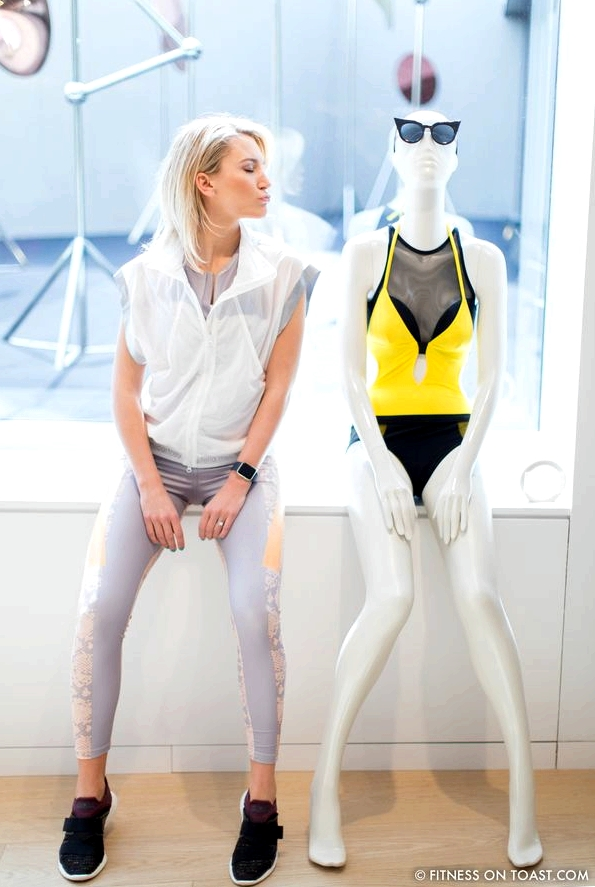 Faya Nilsson of Fitness On Toast in collaboration with Selfridges for 'The Body Studio'; Feeling romantic with this one