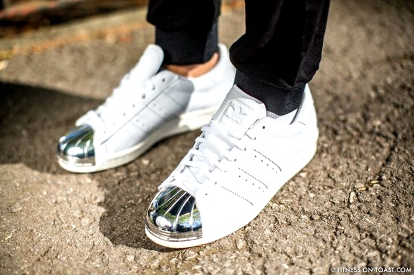 Faya Nilsson of Fitness On Toast in collaboration with Selfridges for 'The Body Studio'; The shoes though - Adidas originals with beautiful silver detailing