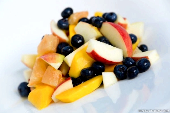 SUPER FRUIT SALADhttp://fitnessontoast.com/2012/12/27/my-kind-of-dessert/