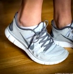 Nike Free Run + Shoes in White and Grey' aria-describedby='gallery-4-1136