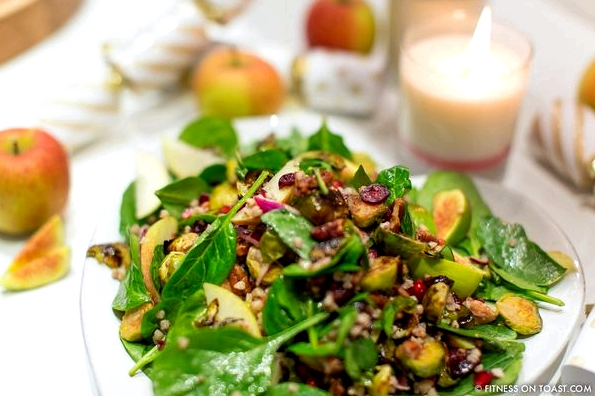 Fitness On Toast Faya Blog Girl Healthy Workout Receipe Food Nutrition Idea Meal Brussel Sprout Festive Salad Reboot Diet Health