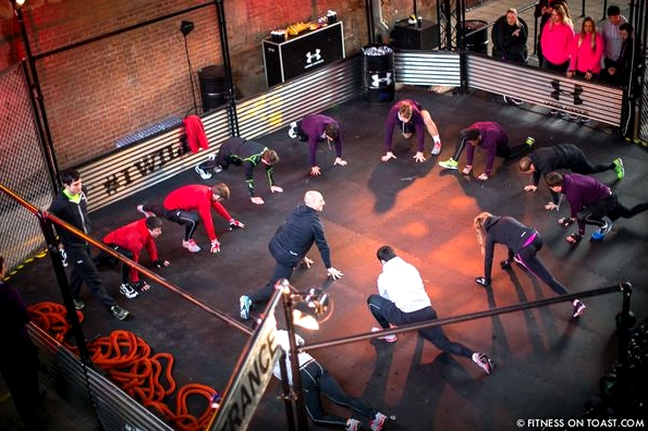 Fitness On Toast Faya Under Armour Armor Gym Southwark Bridge London Pop Up Exercise Temporary Stations Sledge Functional Compound-7