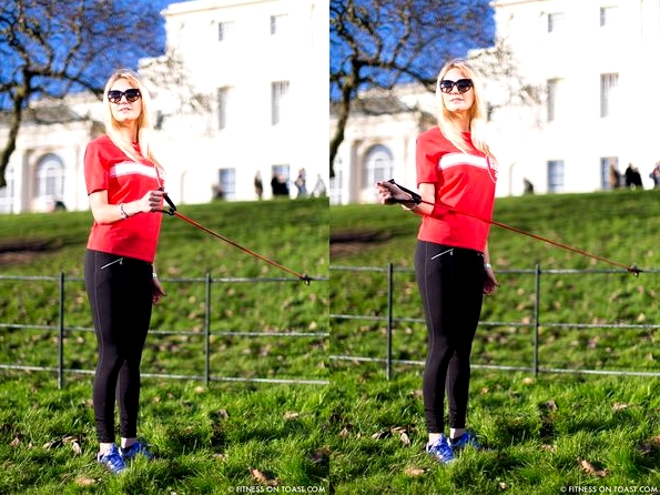 Fitness On Toast Faya Blog Sports Clothes Exercise and Fashion Post Kenwood House Sport Relief 2014 Charity Comic Relief Arm Rehab Resistance Band Exercises Strength Muscle - compilation 2