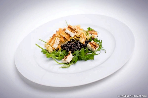 Fitness On Toast Faya Blog Healthy Tofu Black Quinoa Rocket Carrot Broccoli Dish Nutritious