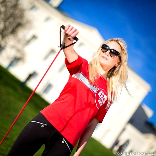 Fitness On Toast Faya Blog Sports Clothes Exercise and Fashion Post Kenwood House Sport Relief 2014 Charity Comic Relief Arm Rehab Resistance Band Exercises Strength Muscle-SQUARE