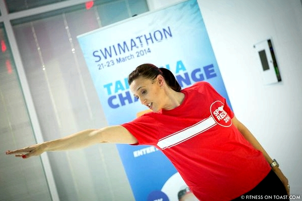 Fitness On Toast Faya Blog Sport Relief Comic Swimathon Masterclass Duncan Goodhew Karen Pickering Olympic Athletes Training Coaching Lesson Charity-1-4
