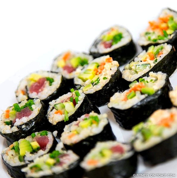 Brown Rice Sushi Fitness On Toast Blog Faya Square